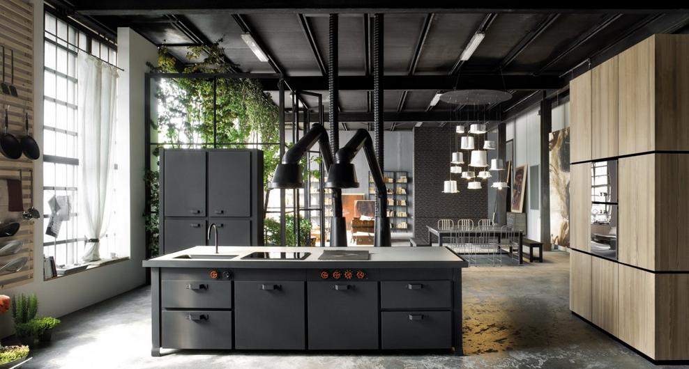 Ins lito loft de estilos dispares cocinas con estilo for Cocina industrial tipo loft