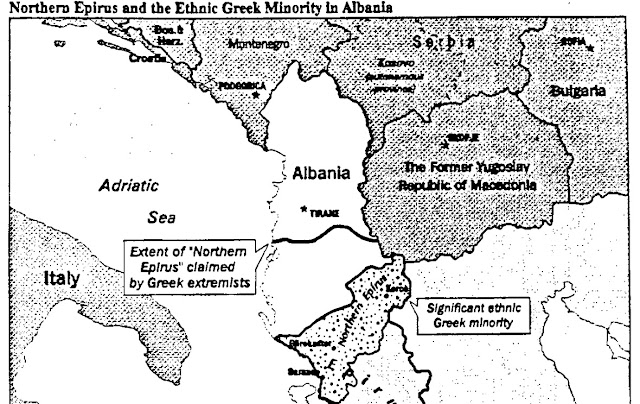 Image result for cia albania greek minority