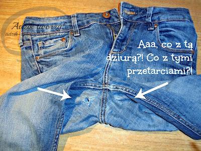 Adzik tworzy - jak zszyć spodnie przetarte lub dziurawe w kroku