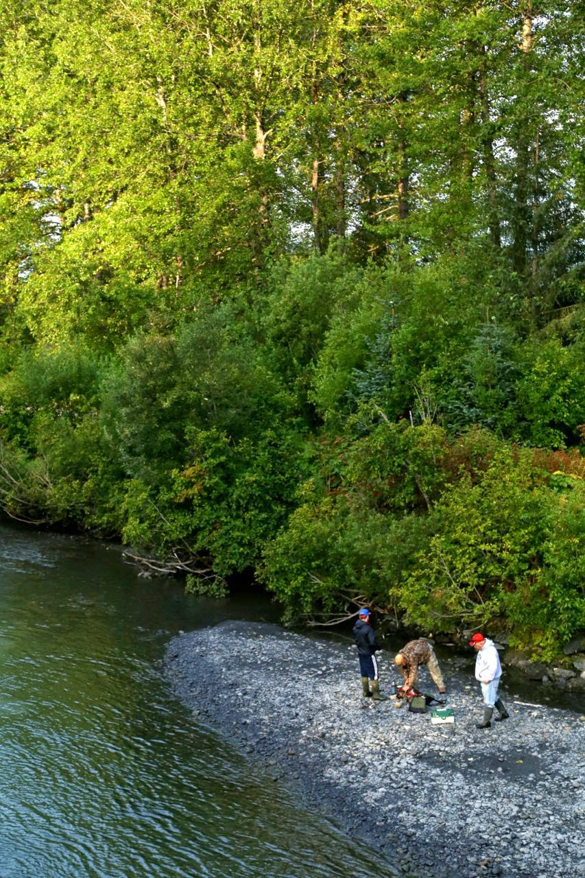 Fishing at Bird Creek, in Anchorage, Alaska