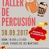 Taller de percusión para cerrar el mes de septiembre