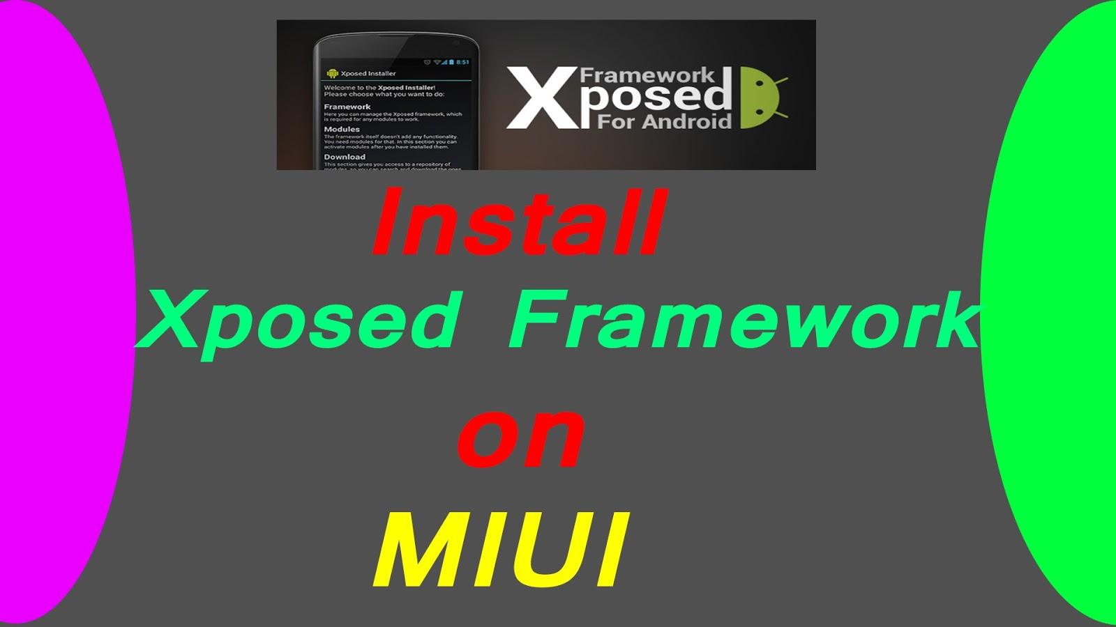 Xposed Framework untuk semua jenis MIUI