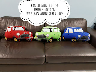 bantal mini cooper