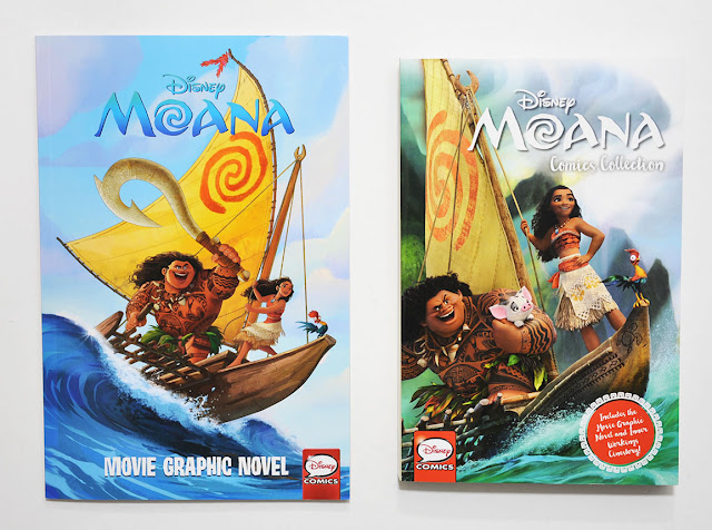 Moana graphic novel and Moana Comics Collection published by Joe Books