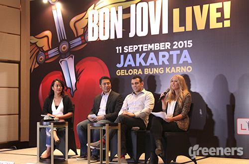 Gemparnya Konser Bon Jovi di Jakarta