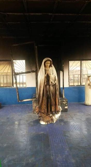 Woman sets statue of Virgin Mary ablaze at a Catholic Church in Enugu