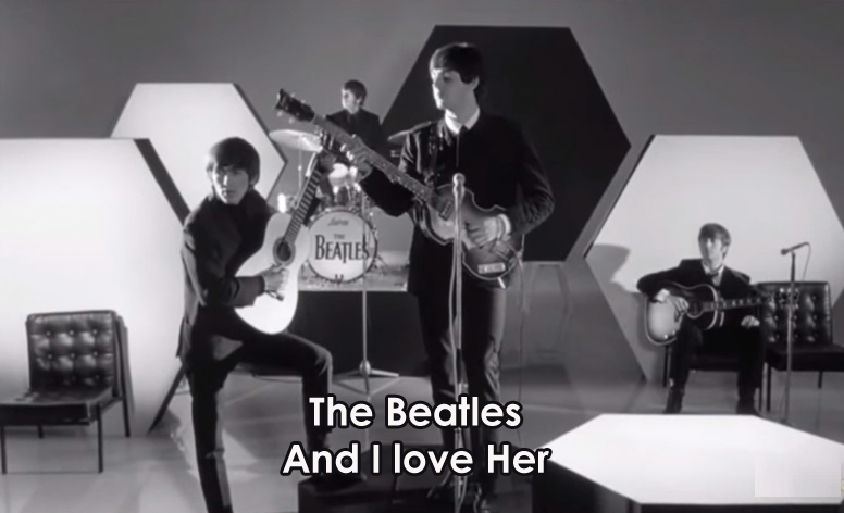 Lyrics And I love Her The Beatles With Chords and Video | Lyrics ...