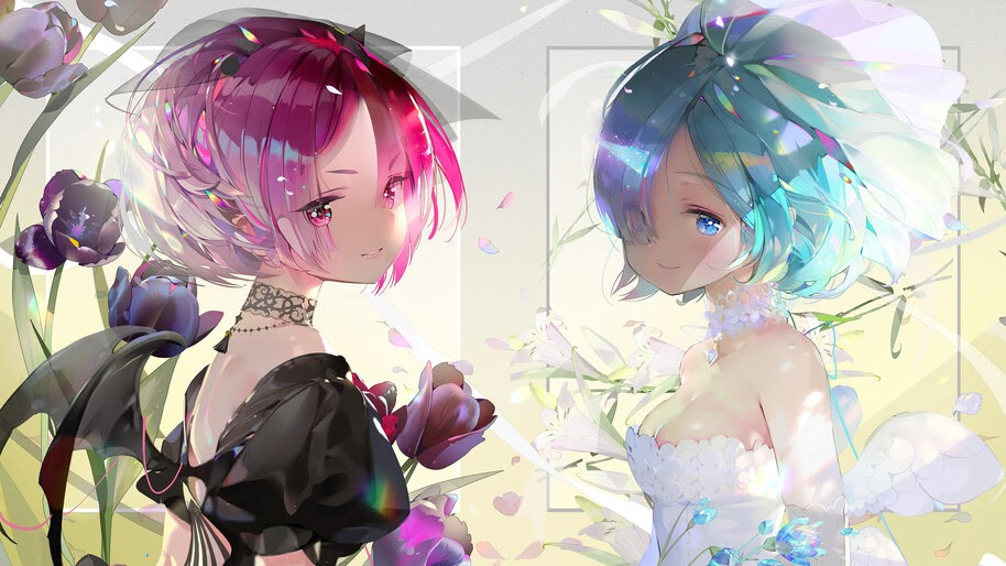 Ram, Rem, Re:Zero, Girls, 4K, #4.2757