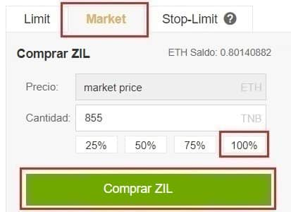 Comprar y Guardar en Wallet Zilliqa (ZIL)