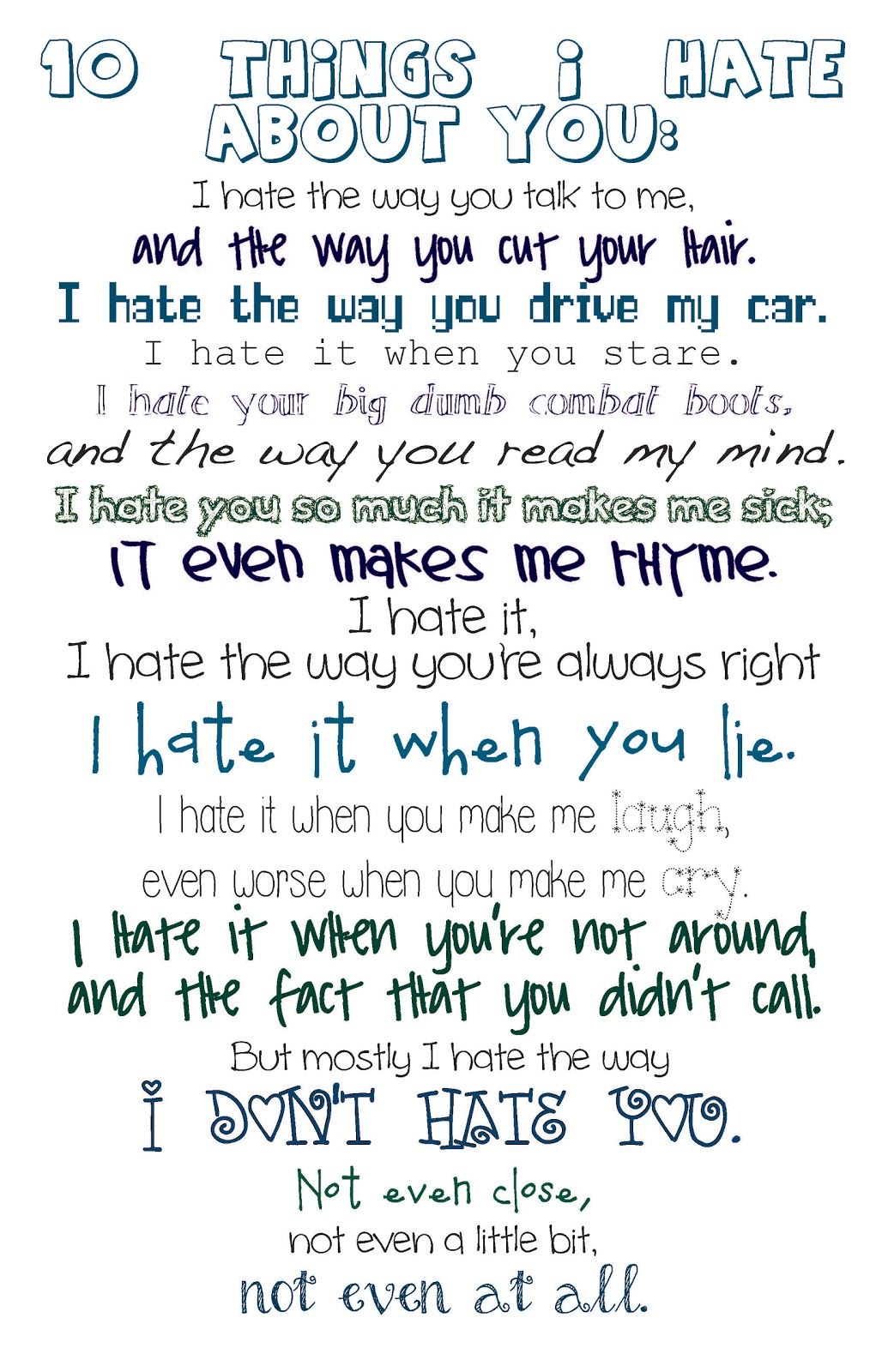 10 things i hate about you essay