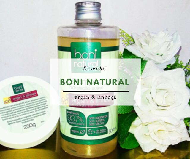 Shampoo Boni natural Argan e Linhaça