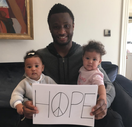 Exquisite new photographs of Mikel Obi and his twin girls