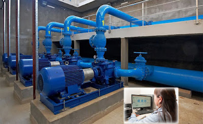 SCADA water distribution system