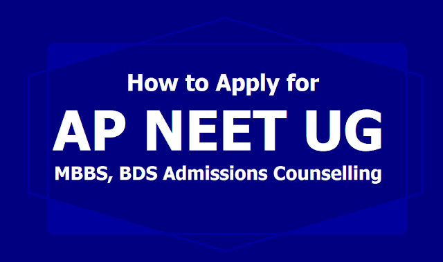 How to Apply for AP NEET UG MBBS, BDS Admissions Counselling 2019