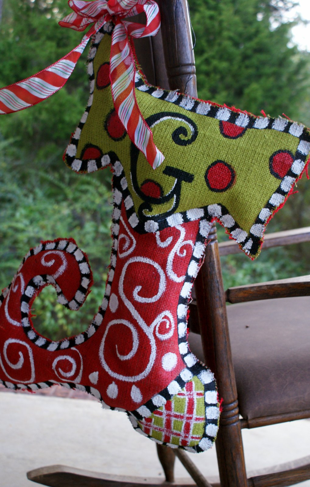 A Little Loveliness Painted Burlap Stocking Tutorial