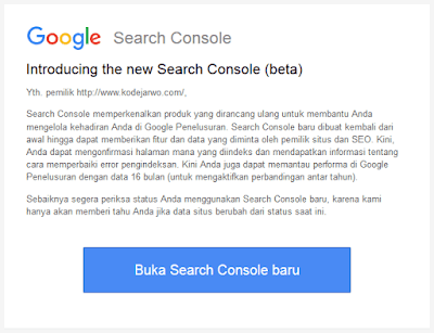 Gmail dari Google Search Console