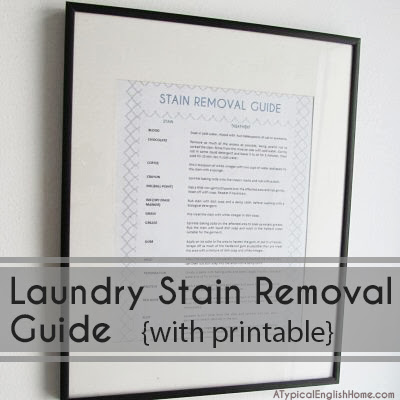 laundry stain removal guide with free printable