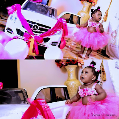 Parents Gifts 1 Year Old Daughter Miniature Mercedes Benz On Her Birthday