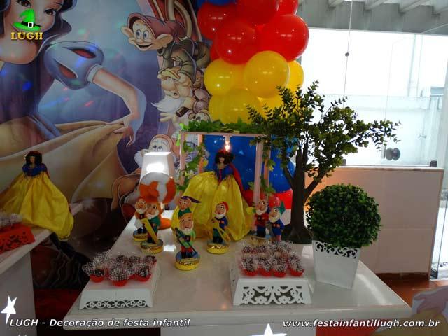 Decoração de festa Branca de Neve - Mesa provençal - Aniversário infantil