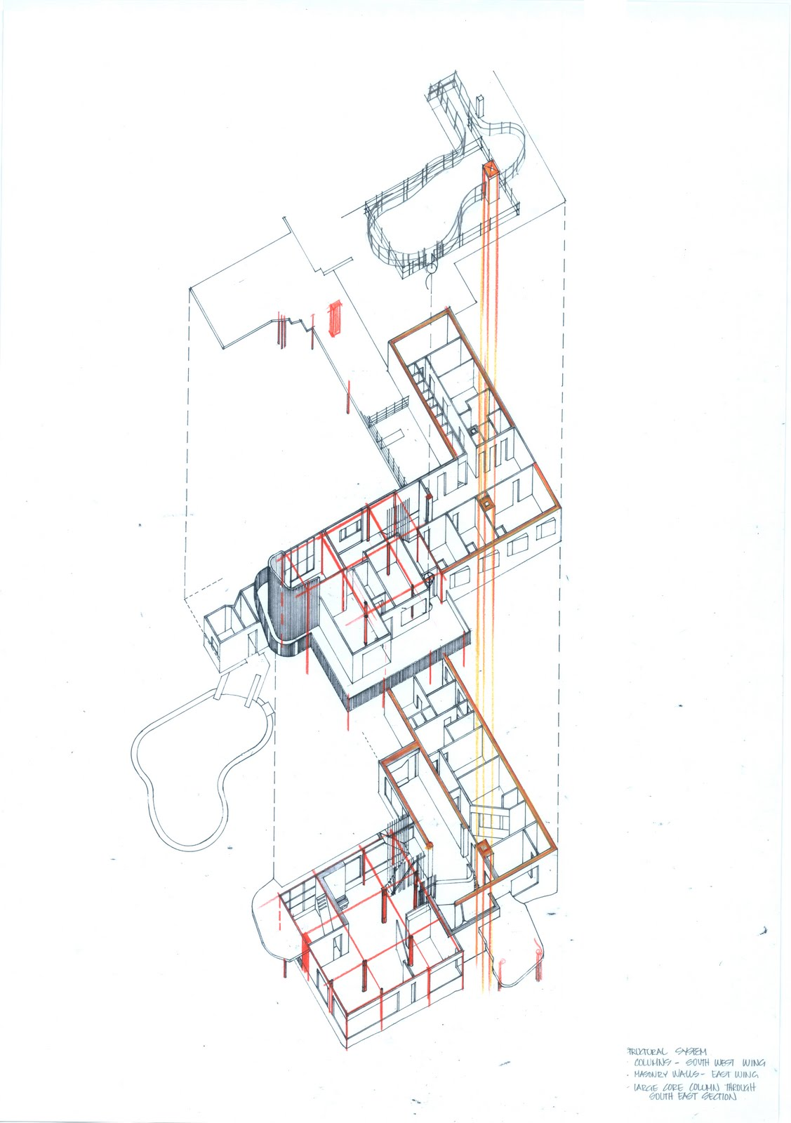 Sharryn Bowman Villa Mairea Axonometric Studies