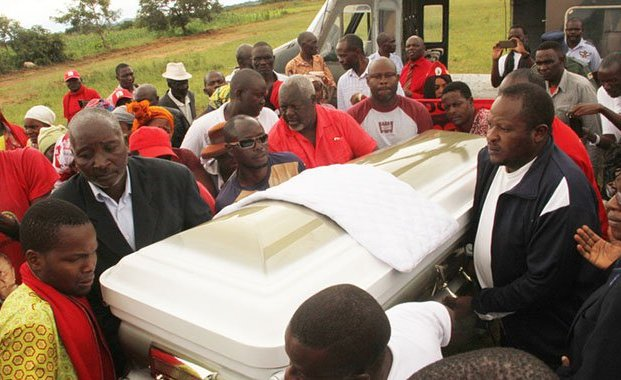 Bumper crowd at Tsvangirai burial