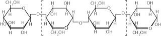 Susunan molekul glukosa dalam selulosa