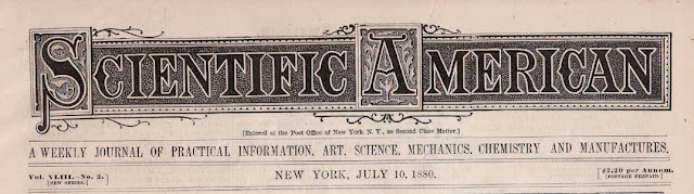 1880 Scientific American Masthead