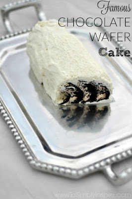 Famous Chocolate Wafer Cake by To Simply Inspire