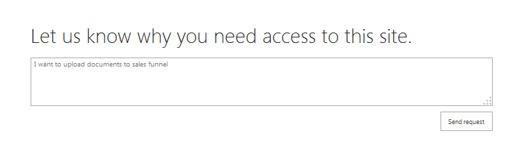 sharepoint 2013 turn off access request