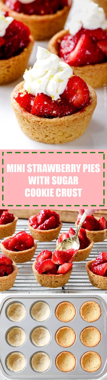 Mini Strawberry Pies With Sugar Cookie Crust