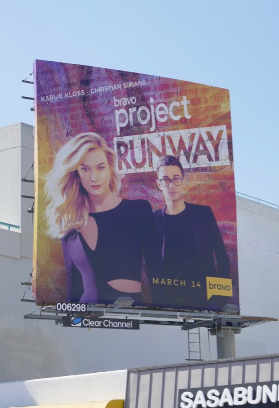 Project Runway season 17 Bravo billboard