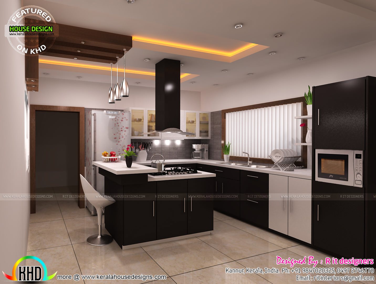 modular kitchen interior modular kitchen dining bedroom interiors kerala home 14283