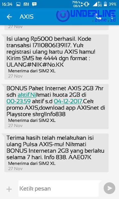 Trik Gratis Kuota 2GB AXIS Terbaru - Underline