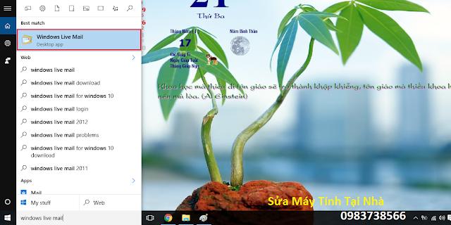 Cấu hình windows live mail 2012 - H05