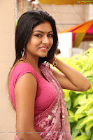 Sai Akshatha in Sexy Pink Saree Cute Pics Hot Blouse Lovely Female Cleavages Gully