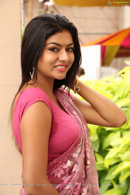 Sai Akshatha in  Pink Saree Cute Pics  Blouse Lovely Female  Gully