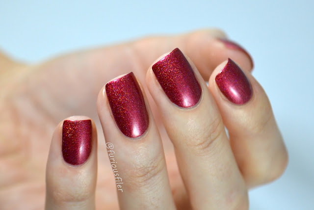 ard as nails pop your cherry swatch holo