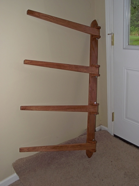 Wooden Quilt Rack Wall Mount PDF Woodworking