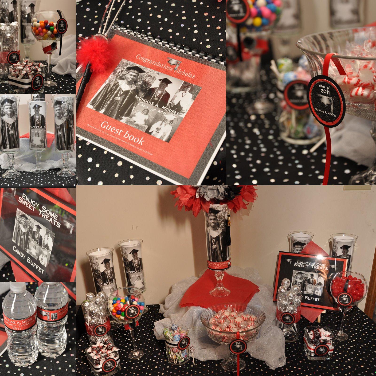 kustom kreations phtography celebration decor graduation decoration red black. Black Bedroom Furniture Sets. Home Design Ideas