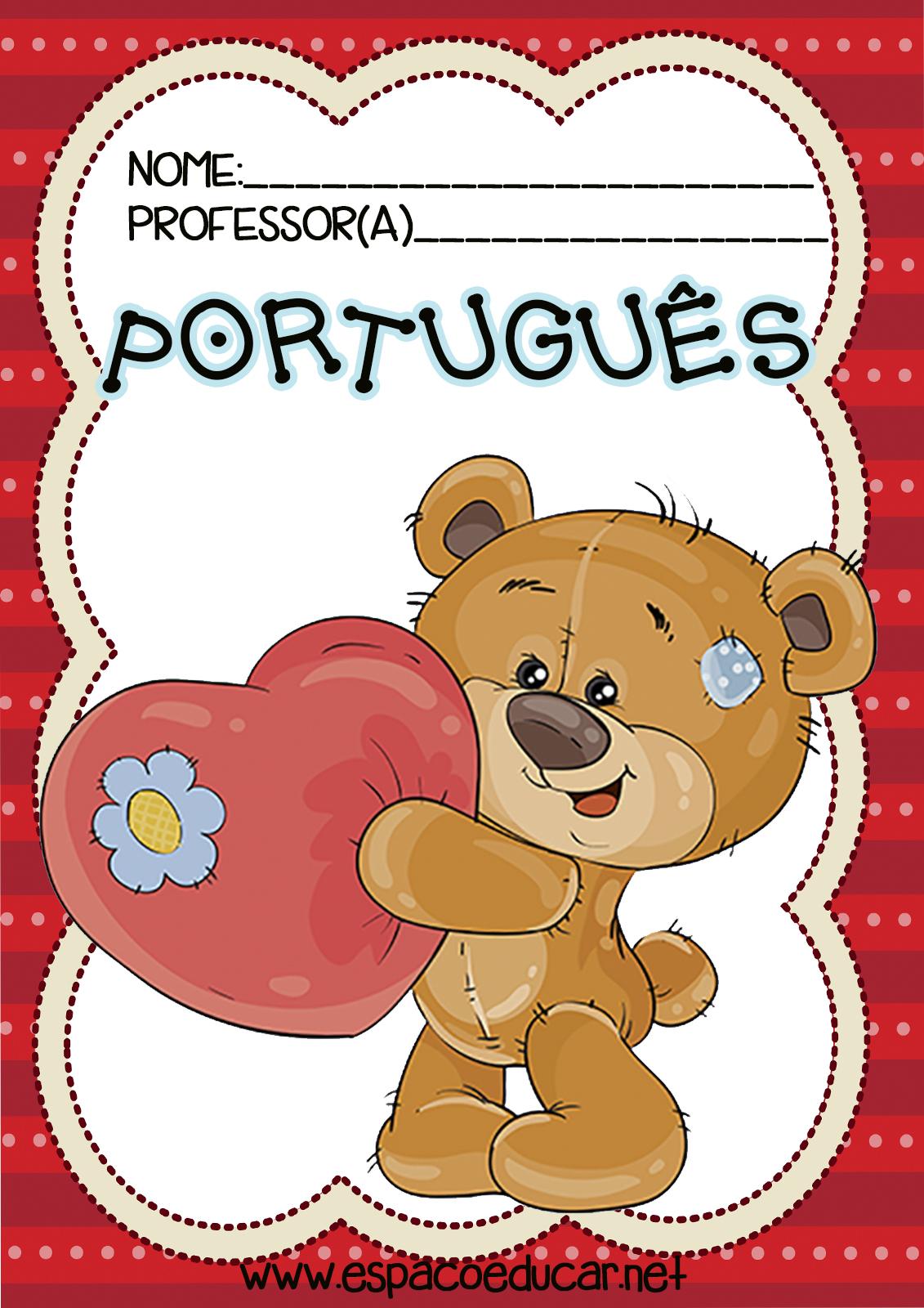 Frentes Capas Capinhas Para Caderno De Portugues Imprimir