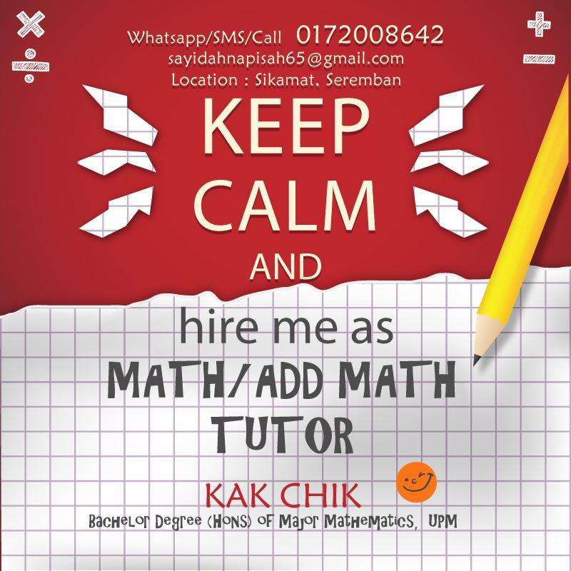 tutor matematik, matematik tambahan