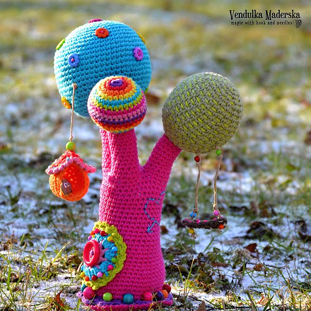 Crochet pattern - Rainbow tree by VendulkaM