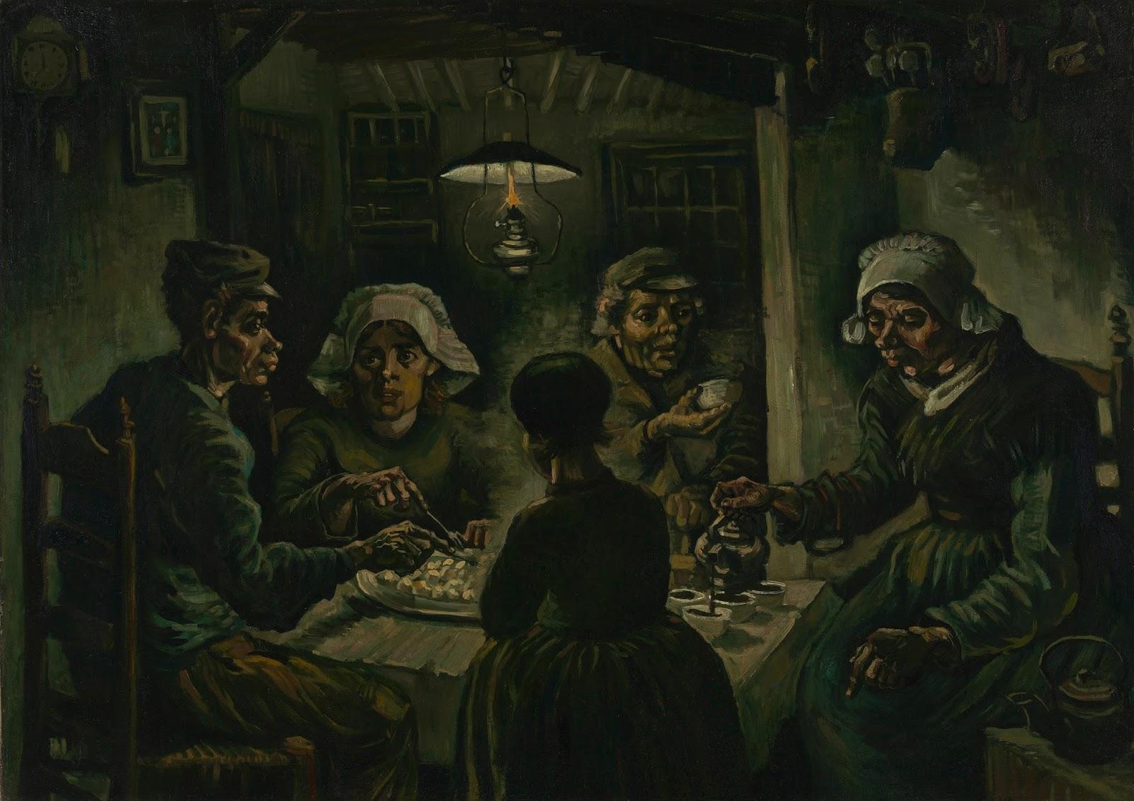 Los comedores de patatas de Vincent Van Gogh   Harte con Hache