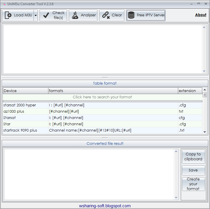 UniM3u Converter 2 3 6 Free IPTV server fix - Wsharing Soft