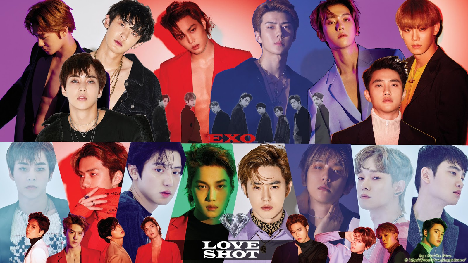K Pop Lover Exo Love Shot Wallpaper