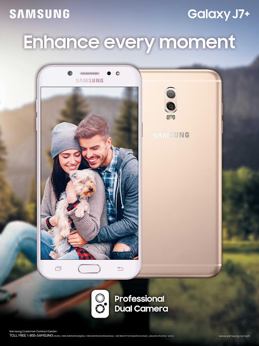 Enhance every moment with the Samsung Galaxy J7+