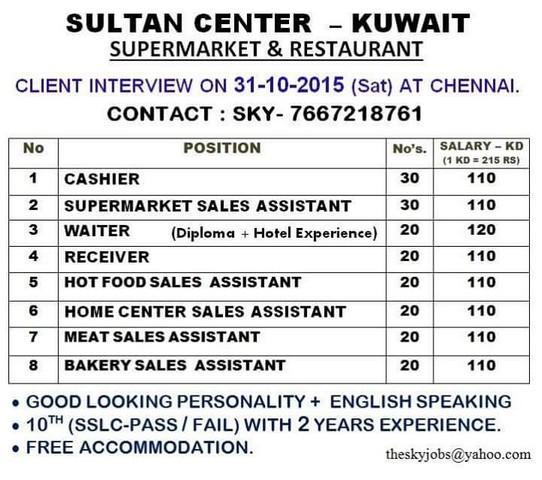Job Vacancies Kuwait Housemaid: Household Items For Sale