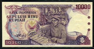 10000 rupiah Gamelan 1979