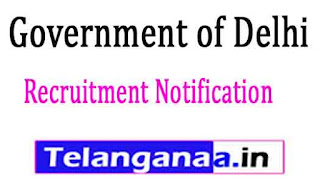 Government of Delhi Recruitment Notification 2017