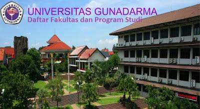 Daftar fakultas, jurusan dan program studi untuk diploma, doktor ,Universitas Gunadarma Lengkap Terbaru